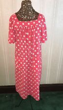 Pink Yoked Cotton House Coat Lounge Robe Dress Duster Minnie Mouse