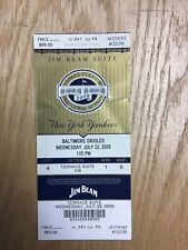 2009 New York Yankees v Baltimore Orioles Jim Beam Suite Ticket Row 1 Seat 9
