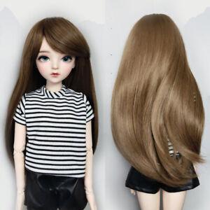 Doll Wigs for 1/3 BJD 60cm Doll Hair Doll Accessories Brown Long Hair DIY Parts
