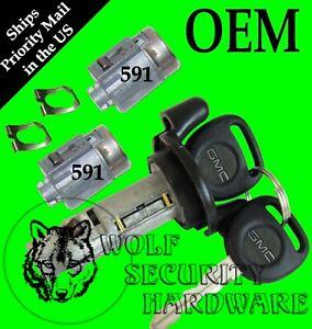 GMC Sonoma Jimmy 2001 OEM Ignition Key Switch Cylinder & Door Lock Set 2 GM Keys