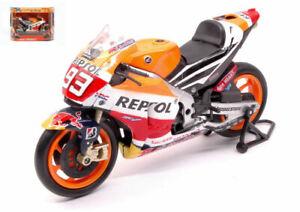 Coche Moto Bike Honda Marc Marquez N.93 Gp 1:12 miniaturas automodelismo