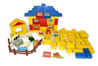 VINTAGE LEGO DUPLO FARM BUNDLE WITH FARM ANIMALS, FIGURES, HOUSE & EXTRA BRICKS