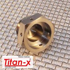 Titanium lambda exhaust plug drilled for lock wire M18x1.5