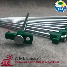 10 x Hard Ground Steel Rock Pegs GREEN 25cm Awning, Tent, Awning 6009900