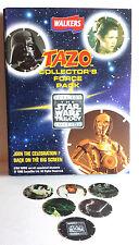 "1996 British Star Wars Tazos Album with  6 ""Pogs""- Promo Starter Set- FREE S&H"