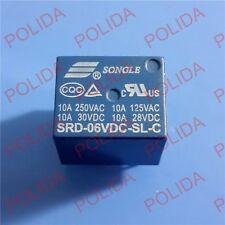 5PCS RELAY SONGLE DIP-5 SRD-06VDC-SL-C SRD-6VDC-SL-C SRD-6V-SL-C DC6V DC6