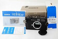 "Konica Hexar RF 35mm Rangefinder Film Camera M-Mount ""Excellent in Box"" #1005"