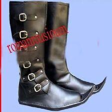 X-MAS Gift BEST ITEM Re-enactment Dress Costume Men Long Boots Medieval Leather