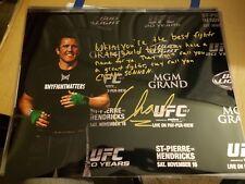 CHAEL SONNEN Signed 16x20 Photo UFC MMA POSTER AUTO Glove Conor Ronda Bellator
