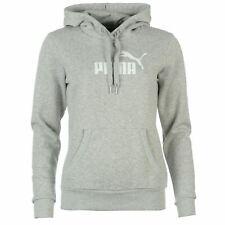 Puma No1 Logo Pullover Hoody Womens Grey Hoodie Sweatshirt Sweater Sportswear