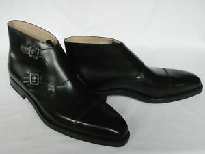 Men Handmade Boots Black Oxford Toe Monk Leather Formal Wear Casual Dress Shoes