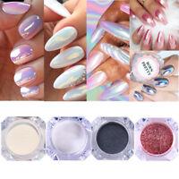 BORN PRETTY Nail Glitter Powder Black Silver Rose Gold Manicure Mirror Pigment