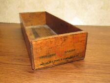 Vintage Advertising Wood Cheese Crate Box Cooper Sharp 5lb W.S. Pope Phila Pa