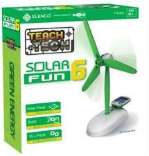 """Elenco Teach Tech Solar Fun 6"""", 6-in-1 Solar Powered Robot,"""
