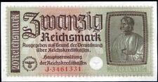 ALEMANIA 20 REICHMARK - OCUPACION ALEMANA 1939-1945 Pick R 138 - S/C  UNC