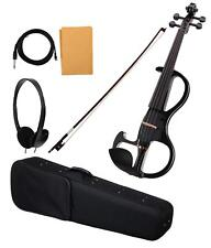 Professional Electric Violin 4/4 Taille GIG BAG Bow Cable épinette Finition Noir Lot