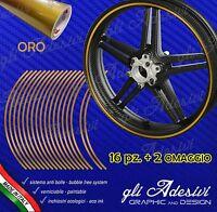 Strisce adesive nastro ruote moto ORO 6 mm cerchi 17 15 14 13 pollici