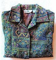 Erin London Jacket Women's Size Large Tapestry Blazer Office Attire EUC