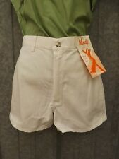Deadstock Vtg 70s NEW NOS Sno White  50/50 Twill Sporty High Waisted Shorts 7/8