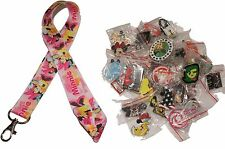Disney World Pin Trading Lot Lanyard Starter Minnie w/ Pink Party Hat & 10 Pins