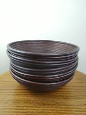 Hamper Baskets. Round. Rattan. NEW UNUSED. Gift Basket. X 5. Storage.Fruit Bowl