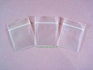 "50 Plastic Clear Reclosable Small Zipper Bag 4 Mil Thickness 1.5"" x 2""_40 x 50mm"