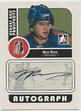 Nick Ross 2008-09 ITG In The Game Heroes And Prospects Autographs Card # ANR