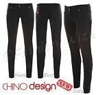 Filles Noir Pantalon École Jeans Miss Sexies Super Skinny Style Chino Taille 6
