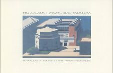#UX168 19c Holocaust Mem Museum Postal Card First Day Ceremony  Program