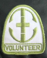 """VOLUNTEER  EMBROIDERED SEW ON ONLY PATCH NAME PERSONAL 3""""  x  3 1/2"""""""