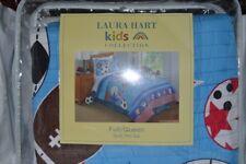Laura Hart Kids-Sport & Stars Full/Queen Quilt Mini Set Blue NIP