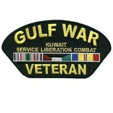 GULF WAR VETERAN Biker VET Military Vest Ball Cap POW MC Club NEW Patch PAT-0758