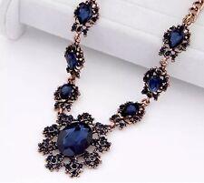 Gothic Necklace Chains Stunning Formal Design Victorian Elizabethan Diamonte