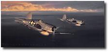 Corsair! by Jack Fellows - F4U Corsair - Aviation Art Prints