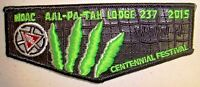 AAL PA TAH 237 GULF STREAM PATCH LEATHER 100th OA CENTENNIAL 2015 NOAC FLAP 3-D
