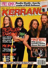 Metallica on Kerrang Cover 1991       King Of The Hill     Mr Big   Enuff Z'Nuff