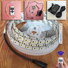 5M 3014 LED Strip Light 1020LEDs IP20 Indoor 12V Power Supply Dimmer Controller