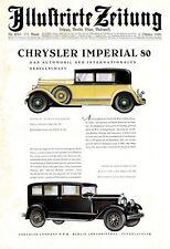 Chrysler Imperial 80 XL Reklame 1928 Berlin Johannisthal Werbung