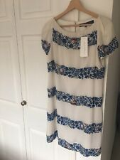 Beautiful French Connection Cream Embroidered Dress Size 12 BNWT