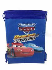 Disney Cars Mcqueen Drawstring String Backpack Sling Tote Bag - Royal Blue