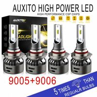 AUXITO 9005+9006 Combo 32000LM LED 6500K Headlight Kit High & Low Beam Bulbs P9