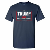 Donald Trump 2020 Keep America Great! on a Navy T Shirt