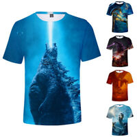 Godzilla King Of The Monsters Dragon T-Shirt Short Sleeve Tops Cotton Crew Neck
