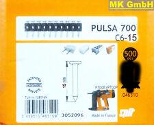 SPIT ACCESSORI: 500 chiodi c6-15 per pulsa 700 + 800 P/E gasnagler, 15mm