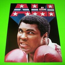 Muhammad ALI Pinball FLYER 1980 Original NOS Boxing Sports Theme Fold-Out Stern