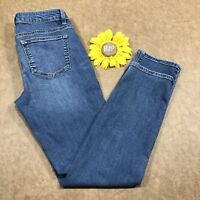 Talbots Womens Heritage Ankle Jeans Size 2 Petite Stretch Blue Denim as593