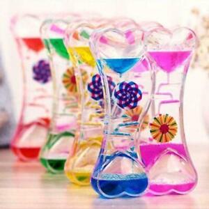 Liquid Floating Timer Desktops Motion Visual Windmill Oil Toy Drop Timer D7Z3