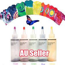 5pcs Tulip One Step Tie Dye Kit Vibrant Fabric Textile Permanent Paint Colour DM