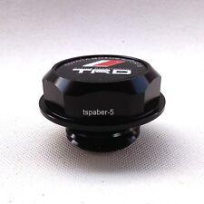 Black Billet Aluminum TRD Emblem logo Engine Oil Filler Cap For JAPAN CAR MODEL