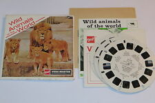 vintage view master reel GAF WILD ANIMALS OF THE WORLD B614-E SET - LION FAMILY